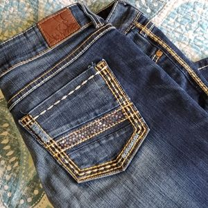 BKE Plus Bling Thick Stitch Jeans - Washed …